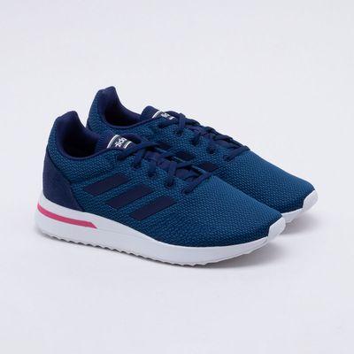 11706c35a01 Tênis Adidas Run 70S Feminino Azul e Rosa - Gaston - Paqueta Esportes