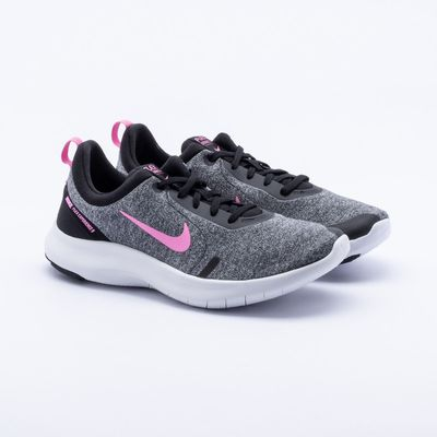 7ff4884f36b Tênis Nike Flex Experience RN 8 Feminino Cinza e Rosa - Gaston ...