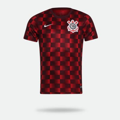 06829b66b1 Camisa Nike Corinthians 2019 Treino Vermelha Masculina Vermelho e ...