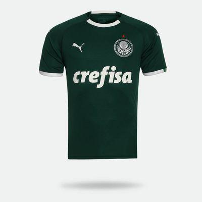 7e5043efd78 Camisa Puma Palmeiras 2019 I Sem Número Verde Masculina