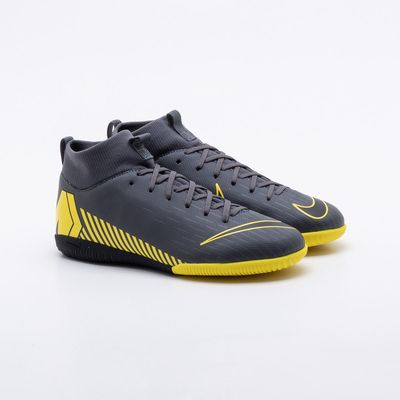 977ec383e Chuteira Futsal Nike Infantil Mercurial Superfly 6 Academy Cinza ...