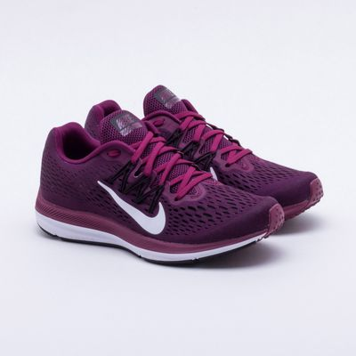 6df1382ae Tênis Nike Zoom Winflo 5 Feminino Bordô - Gaston - Paqueta Esportes