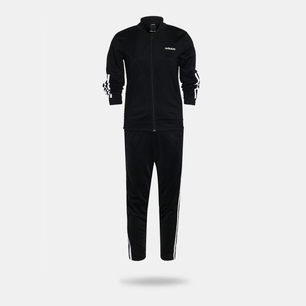 cf0fdffee Agasalho Adidas Back 2 Basics 3 Stripes Preto Feminino