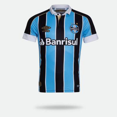 1915ba602 Camisa Umbro Grêmio 2019 I Classic Sem Número Tricolor Masculina G