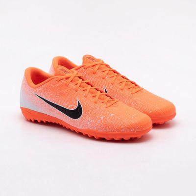 69a3d713e5 Chuteira Society Nike Mercurial Vapor XII Academy Laranja Laranja e ...